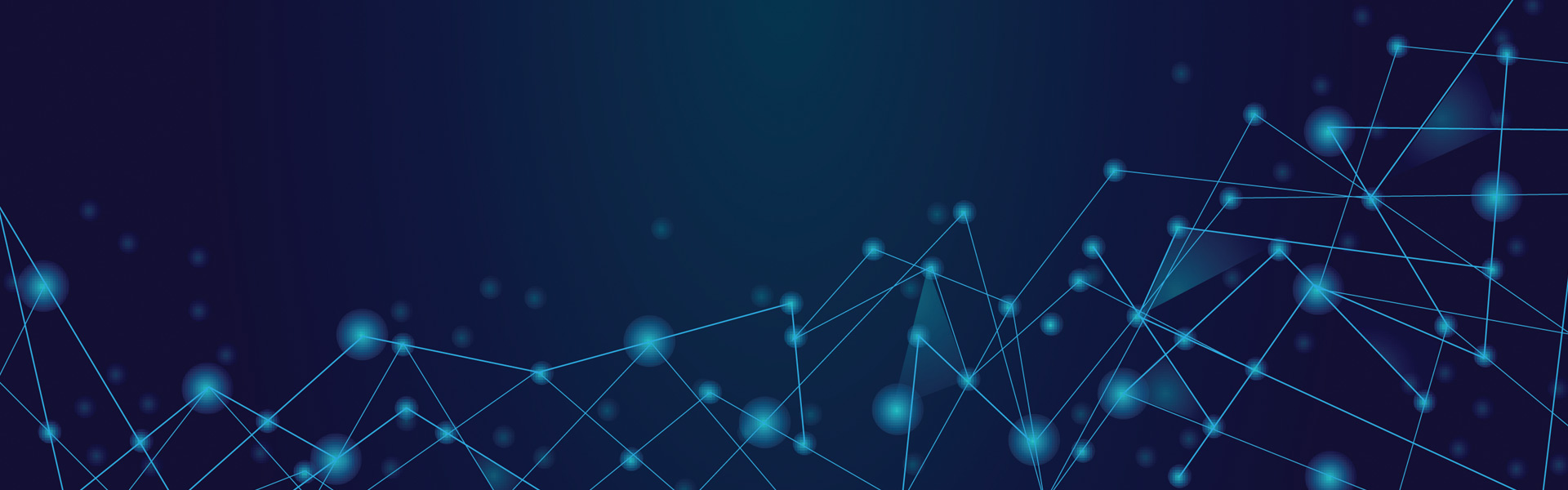 illustration of network dots on a blue background